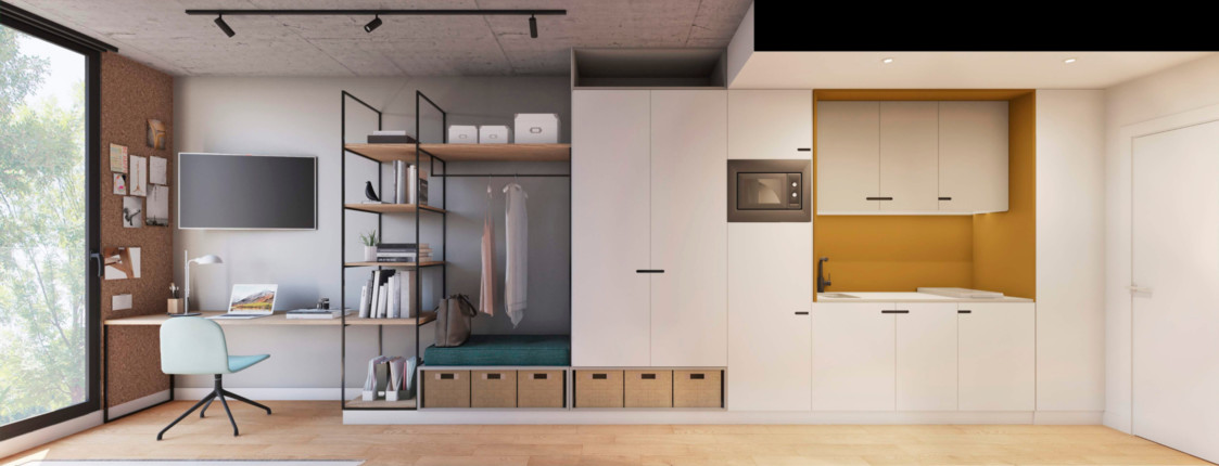 Closet. Interior design.