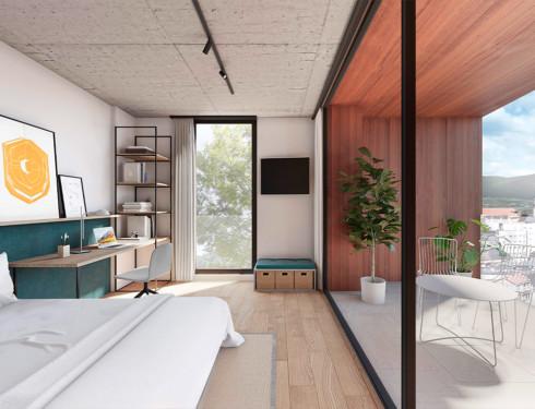 Co-living Coliving Design Arquitecture Sustainability Loft Terrace Landscape views