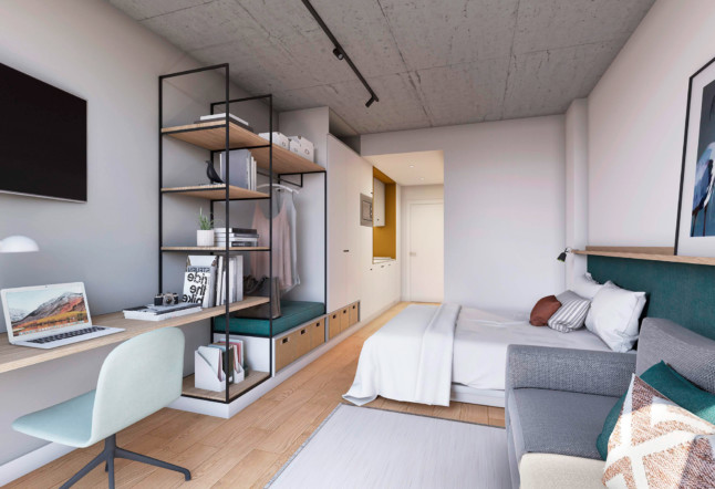 Co-living Coliving Design Arquitecture Sustainability bedrooms loft