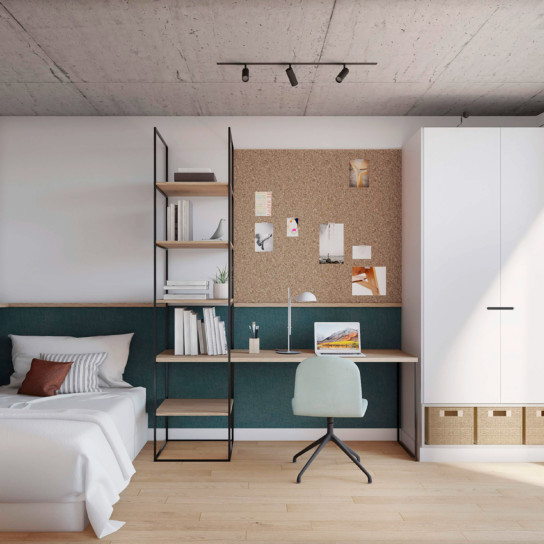 Co-living Coliving Design Arquitecture Sustainability bedrooms