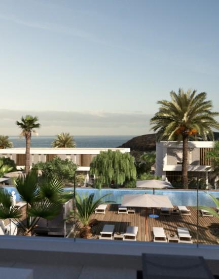 Villas. Tenerife. Vistas al mar. Horizonte