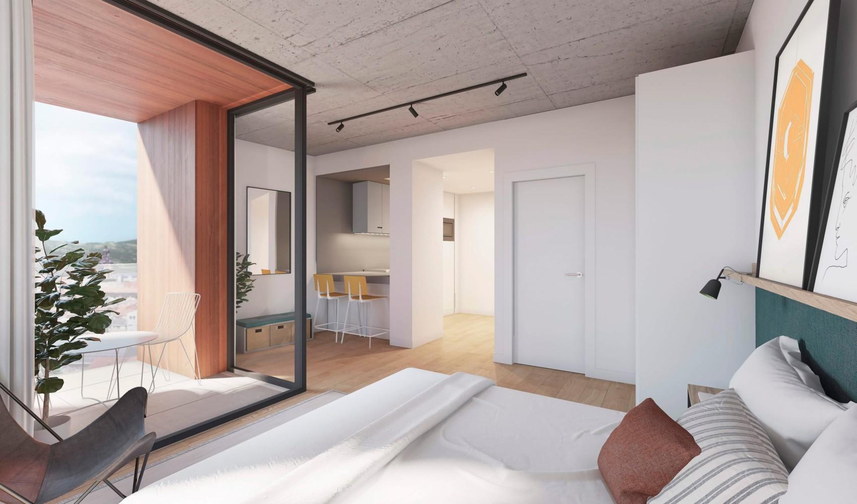 Co-living Coliving Terrace Loft Apartament Vitoria Vitoria-Gasteiz